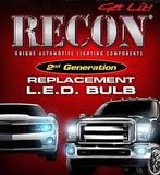 RECON Part # 264225WH Bullet Style Reverse Light Bulbs White - Mr. Motorsports