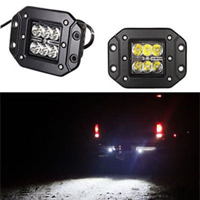 "Dually Flush Mount 3"" 24w CREE LED SPOT for Truck JEEP ATV OFF ROAD (Pair) - Mr. Motorsports"