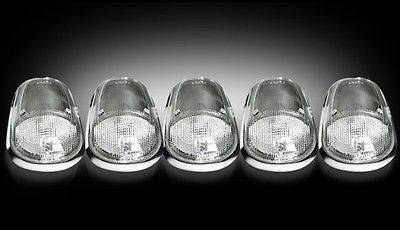 2003-2015 dodge ram clear cab roof light kit white led lights & wiring  harness