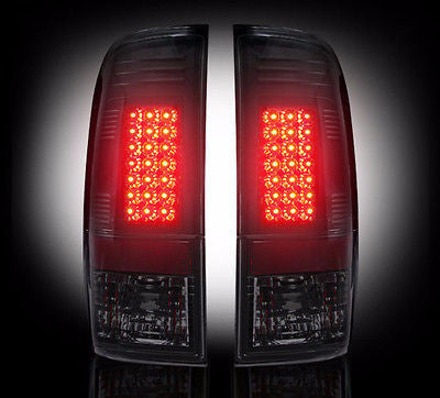 99-07 Ford Superduty & 97-03 F150 SMOKED LED Tail Lights RECON Premium Lighting - Mr. Motorsports