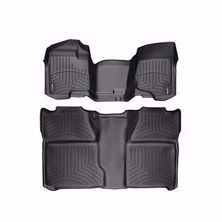 2008-2011 Chevrolet Silverado Black Front and Rear Floorliners-read description - Mr. Motorsports