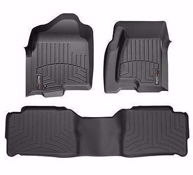 2011-2013 Ford Powerstroke & 2008 - 2010 Ford Black front & rear Floorliners - Mr. Motorsports