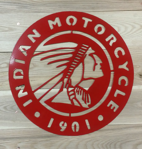 Motorcycle Sign-Metal Powder Coated Red - Mr. Motorsports