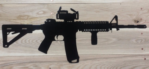 Metal Sign - AR15 shape - Mr. Motorsports