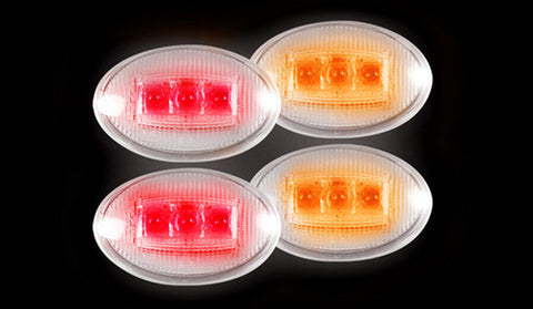 Fender Lights - Dually CLEAR Fits Ford 99-10 Part # 264132CL - Mr. Motorsports