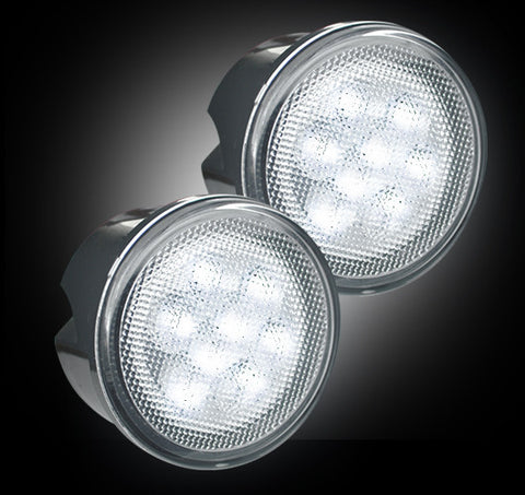 Turn Signal Lens Front White LEDs - Clear  Jeep 07-16 JK Wrangler Part # 264134WHCL - Mr. Motorsports