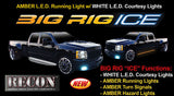 "BIG RIG ""ICE"" AMBER Lights w WHITE Courtesy Lights - 62"" Part # 26414X - Mr. Motorsports"