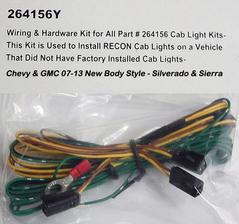 Wiring Kit  - Chevy/GMC 07-13 Cab Lights for Part # 264156Y - Mr. Motorsports