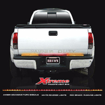 "Tailgate Light Bar - 60"" ""Xtreme"" Scanning Amber, White, & Red LED  Part # 26416X - Mr. Motorsports"