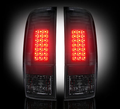 Tail Lights 99-07 Ford Superduty & 97-03 F150 SMOKED LED  Part # 264172BK - Mr. Motorsports