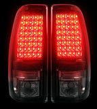Tail Lights SMOKED LED Fits Chevy Silverado & GMC Sierra 99-07 Part # 264173BK - Mr. Motorsports