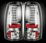 Tail Lights Chevy/GMC 99-07 CLEAR LED Part # 264173CL - Mr. Motorsports