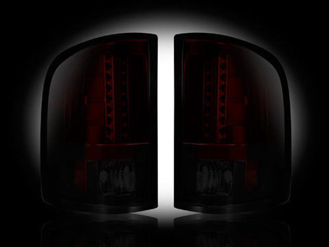 Tail Lights 07-13 Chevy Silverado & GMC Sierra Dually RED SMOKED LED  Part # 264175RBK - Mr. Motorsports