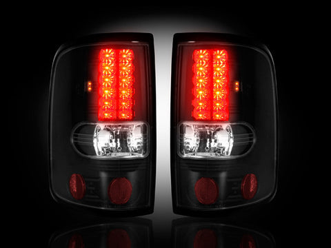 Tail Lights SMOKED LED Fits Ford F150 04-08 Part # 264178BK - Mr. Motorsports