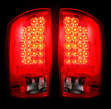 Tail Lights Dodge RAM 07-09 RED LED  Part # 264179RD - Mr. Motorsports