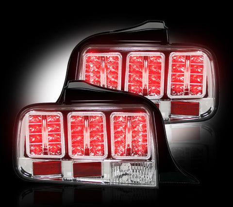 Tail Lights - CLEAR LED Fits Ford Mustang 05-09 Part # 264187CL - Mr. Motorsports