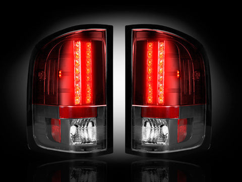 Tail Lights Fits GMC SIERRA 1500/2500/3500 Single Wheel ONLY RED LED 07-13 Part # 264189RD - Mr. Motorsports