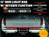"Tailgate Bar SMOKED 15"" Mini LED w Reverse Part # 26418BKW - Mr. Motorsports"