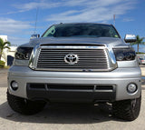 Headlights- Projector  SMOKED Fits Toyota Tundra & Sequoia 07-13 w LED Halos & DRLs Part # 264194BK - Mr. Motorsports