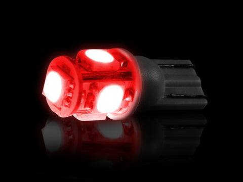 LED Bulbs - 194/168 360 Degree RED Part # 264201RD - Mr. Motorsports
