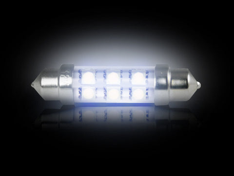 Dome Map Light Bulb 578 (6 LED's) High-Power 1-Watt WHITE LED  Part # 264211WH - Mr. Motorsports