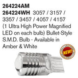 LED Bullet-Style S.M.D. Bulb - Ultra High Power Magnified In White - Mr. Motorsports
