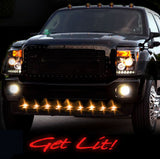 Air Dam Light Kit Front  - Amber LED Smoked Lens & Black Bezel Part # 264227AMBK - Mr. Motorsports