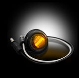 LED Light - Amber w/ Smoked Lens & Black Bezel 1 Extra  Part # 264227AMBKX - Mr. Motorsports
