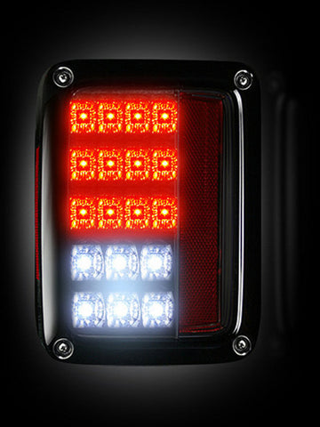 Tail Lights - SMOKED LED Jeep Wrangler 2007-2016 Part # 264234BK - Mr. Motorsports
