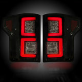 Tail Lights Fits Ford F150 15-17 SMOKED LED Part # 264268BK - Mr. Motorsports