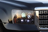 Headlights - Projector SMOKED GMC Sierra & Denali 07-13 LED Halos & DRLs Part # 264271BK - Mr. Motorsports