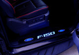 Billet Door Sill - Black Anodized Fits Ford F-150 09-14 - Blue Illumination Part # 264321FDBK - Mr. Motorsports