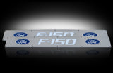 Billet Door Sill Brushed Ford F-150 09-14 - Blue Illumination Part # 264321FD - Mr. Motorsports
