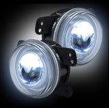 Fog Lights 07-15 Jeep JK Wrangler LED Smoked  Part # 264506BK - Mr. Motorsports