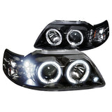 Projector Headlights Fits Ford Mustang Led Halo Black  Spec-D Tuning 2LHP-MST99JM-TM - Mr. Motorsports