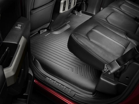 16-17 TACOMA FITS ACCESS AND DOUBLE CAB AUTOMATIC TRANS ONLY FRONT FLOORLINER BLACK - Mr. Motorsports