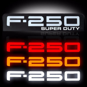 08-10 Ford F250 Illuminated Emblems 2-Piece Kit Includes Driver & Passenger Side - Mr. Motorsports