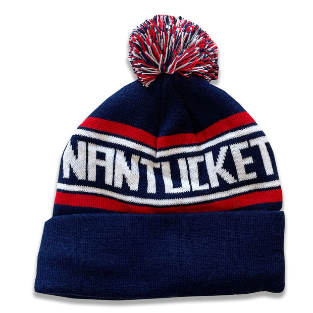 Will: Navy with Red Stripes Nantucket Winter Hat