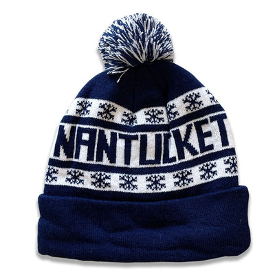 Teddy: Navy with Snowflakes Nantucket Winter Hat