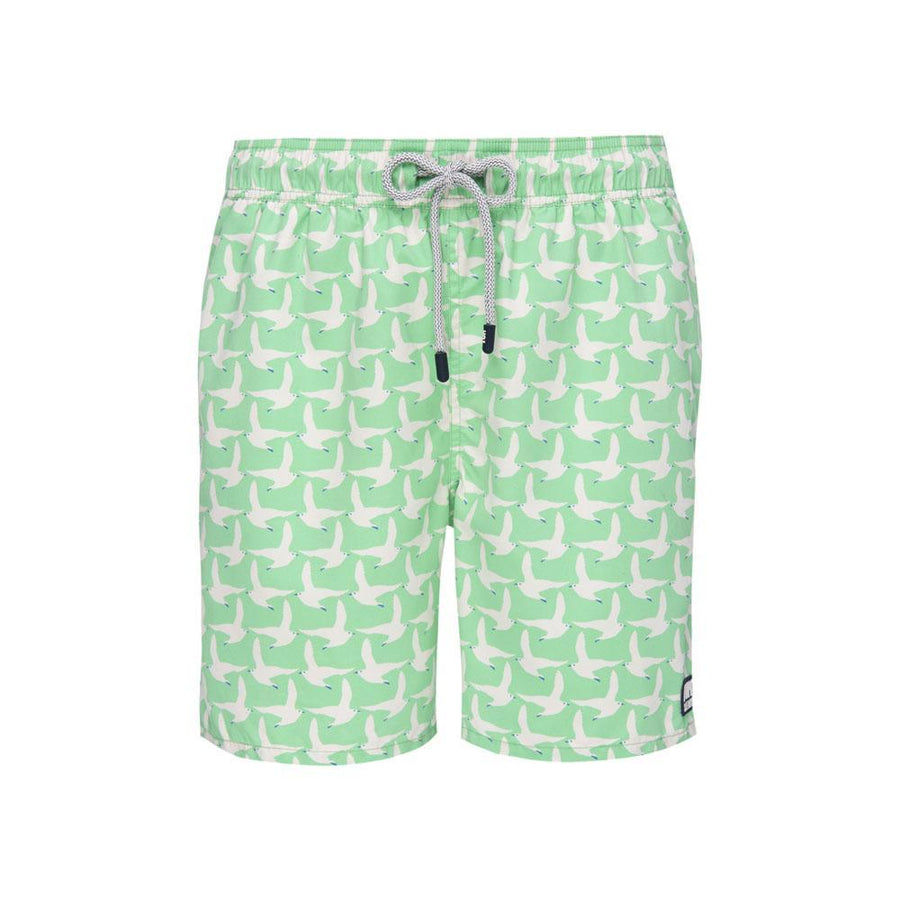 Tom & Teddy Swim Trunks-Seagulls