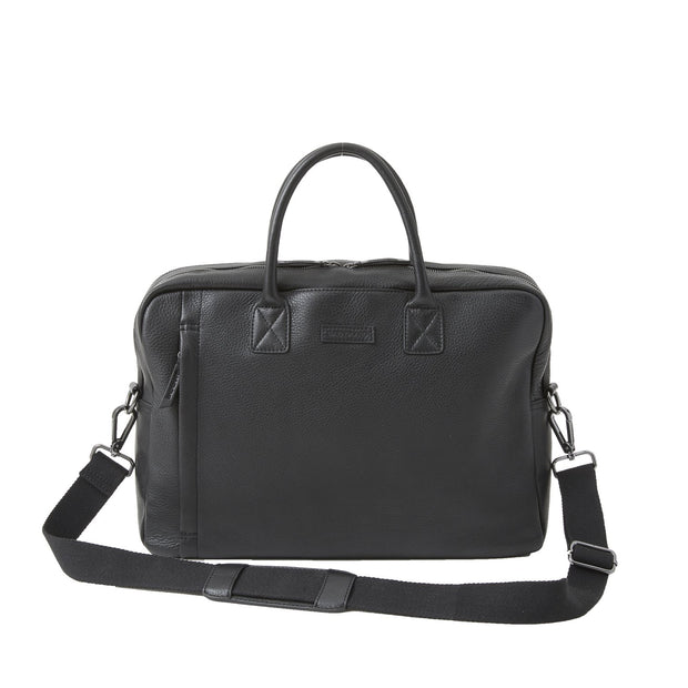Black Brown Leather Sloan Attache