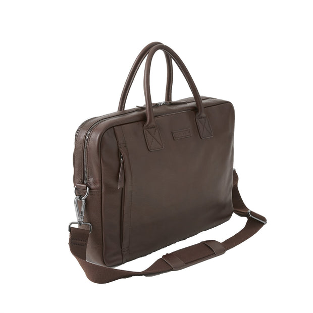 Brown Leather Sloan Attache