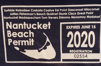 Nantucket Bookstore T Beach Permit Short Sleeve T Shirt