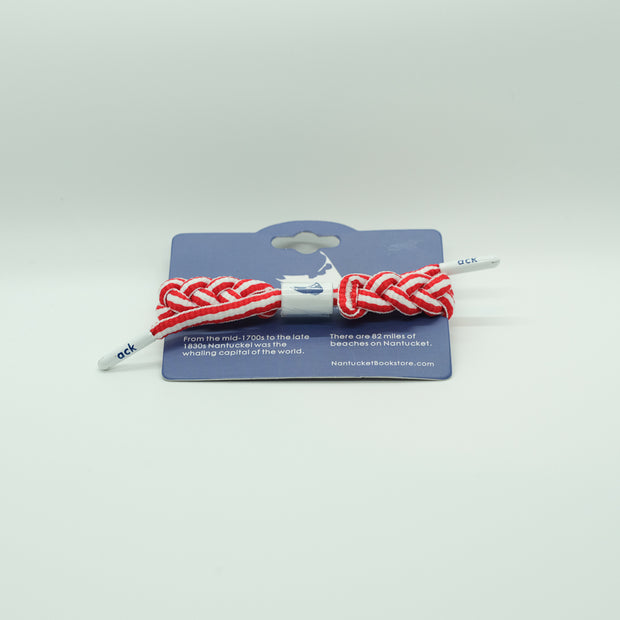 Nantucket Bookstore Bracelet Braided Shoelace Rope