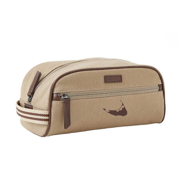 Canvas/Brown Dopp Kit