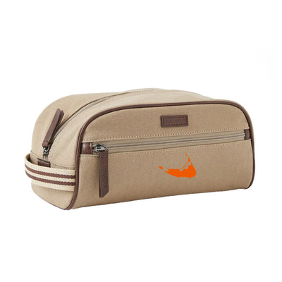 Canvas/Orange Dopp Kit