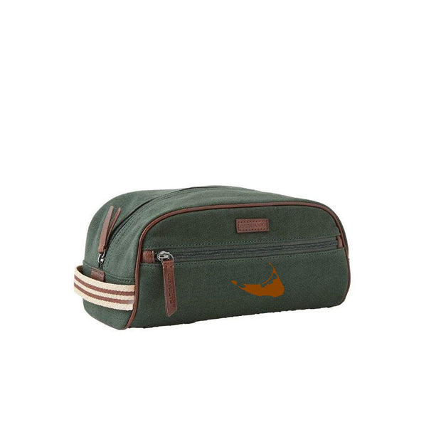 Hunter/Brown Dopp Kit