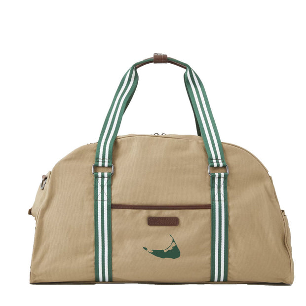 Green/White Duffel Bag