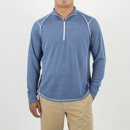 Toes on the Nose^ ACK Embroidered BARREL L/S RAGLAN HALF ZIP