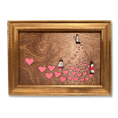 Nantucket Hearts - Wooden and Hand-Painted